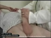 Sexy Brunette doctor fucks lucky patient