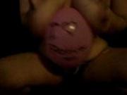 fat girl balloon popping