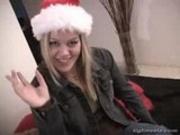 Tight Teela in a santa hat