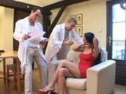 Sandra Kay goes for an exam