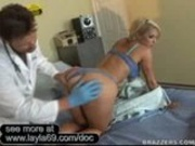 Kayla having Doctors professional cock in her
