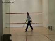 Nadine Jansen Playing Squash