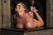 christina carter enjoys a hogtie