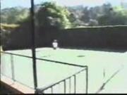 [Piss] Alisha Klass & friend piss on tennis court