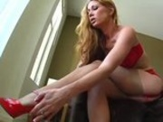 Tiffany Mynx Stocking and Foot Job
