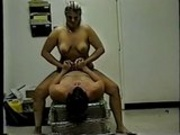 Stephanie fucking the bosses cock