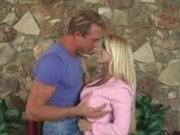 Holly Halston fucks guy in the ass with a strap on
