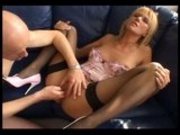 German Blonde Sucking and Fisting
