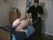 Enema and blowjob