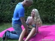 blond fucked outside