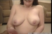 real homemade amateur cum on her tits