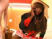 Anal Ebony Cowgirl