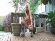 Next Door Nikki - outdoor tease.