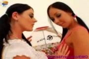 EMO Punk Lesbians Julie Night & Sophie Dee Ass Play
