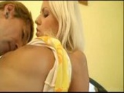 Hot Blond Euro Teen Gets Cream Pie in Japan
