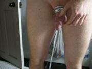 10th Vid - Pissing & cumming into toilet