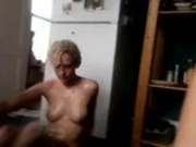 Rose and girlfriend naked in the kitchen