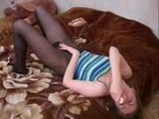 hotlegs-fetish pantyhose dildo play