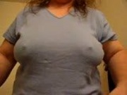 Mature tit flash