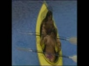 Gemma Massey and Lisa Marie Canoe Fun