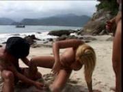 Hot Brazilians on the Beach