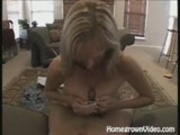 Blowjob And Titty Fuck Get Blonde Sprayed