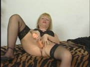 Blonde fraulein playing with herself