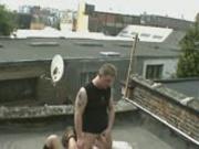 Horney girl on hot tin roof