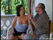 Horny neighbor takes care of pretty girl