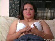 Chunky MILF in White Bra