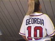 Sweet Georgia Braves Jersey Full Nude Striptease
