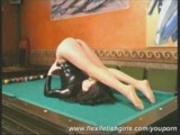 Flexi Trinity playing pool