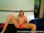 Kaylee Rain Camming in Sexy Pink Panties