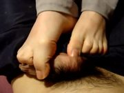 Amateur Footjob from Soft Feet