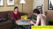 Amateur couple playing Strip Four-In-A-Row