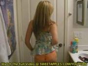HOT Amateur Girlfriends Make Video In Bathroom