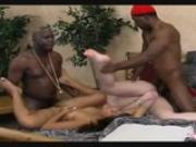 two sluts get fucked by two black dudes
