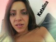 Latina girl plays with self