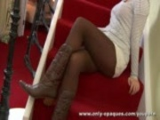 Naomi K slips out of her tight outfit and boots