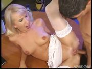 Blonde gets holes violated - DBM Video