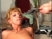 A salesman cumith and shows his goods (CLIP)