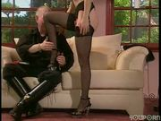 Man dominates beautiful woman