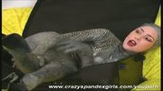Flexi girl dressed like a snake (clip)