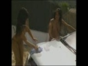 Gemma Massey And Lisa Marie Soapy Car Wash