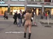 hot public nudity with cute babe