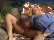 Hot blonde gets railed - Inferno Productions