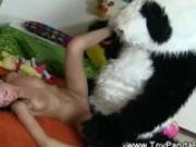 Cheeky toypanda takes teen hard from behind