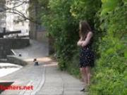 Sexy teen flasher Lauras amateur public nudity