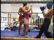 She gets kick boxing lesson, gives blowjob in return