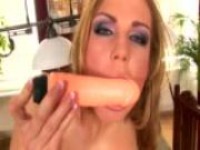 Ulrika lies back and sticks a dildo in her pussy - Trion Media